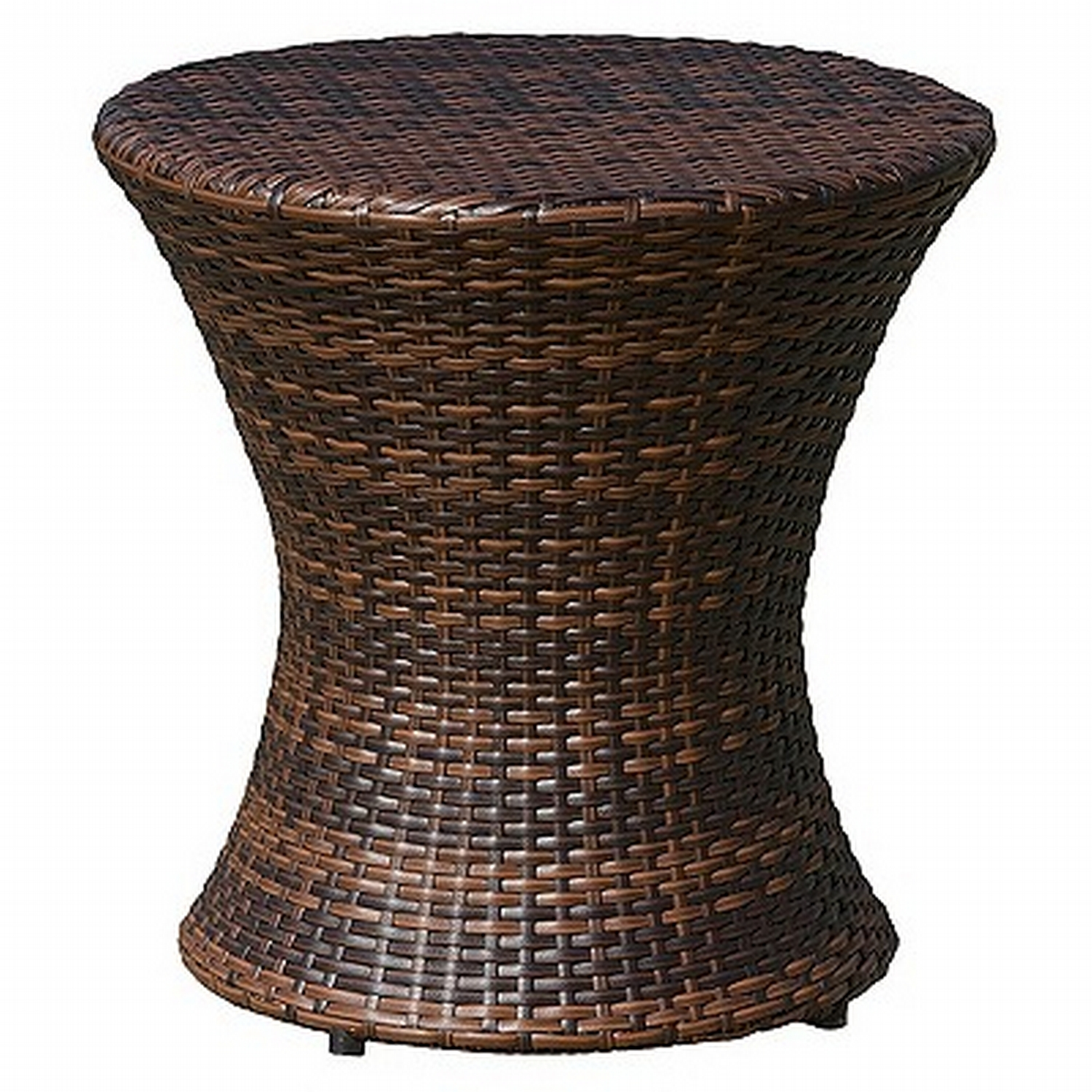 adriana wicker patio accent table multi brown christopher knight get home tiffany butterfly lamp original living room cabinets tablecloth for inch round the bay outdoor furniture