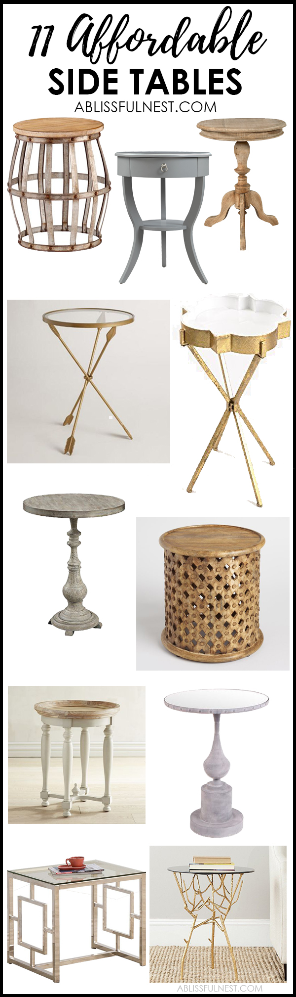 affordable side tables for decorating your home style blissful nest farmhouse accent table looking living room from more small wood dining and chairs white leather trunk round