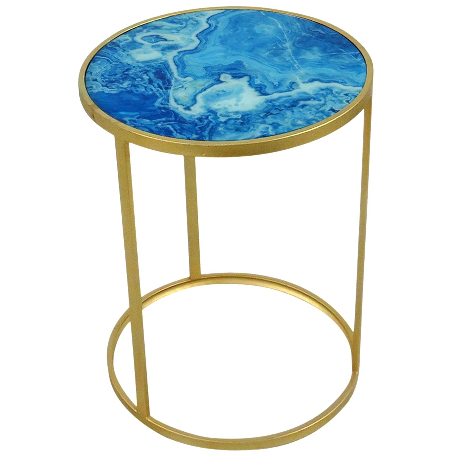 agate accent table ocane info blue small threshold glass faux tablecloth for inch round gold decorative accessories metal bedroom side tables high end vintage oak designer and