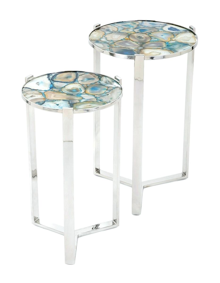 agate accent table ocane info blue stone round tables set threshold glass faux microwave stand target basic coffee outdoor bunnings cordless lamps for living room metal home decor