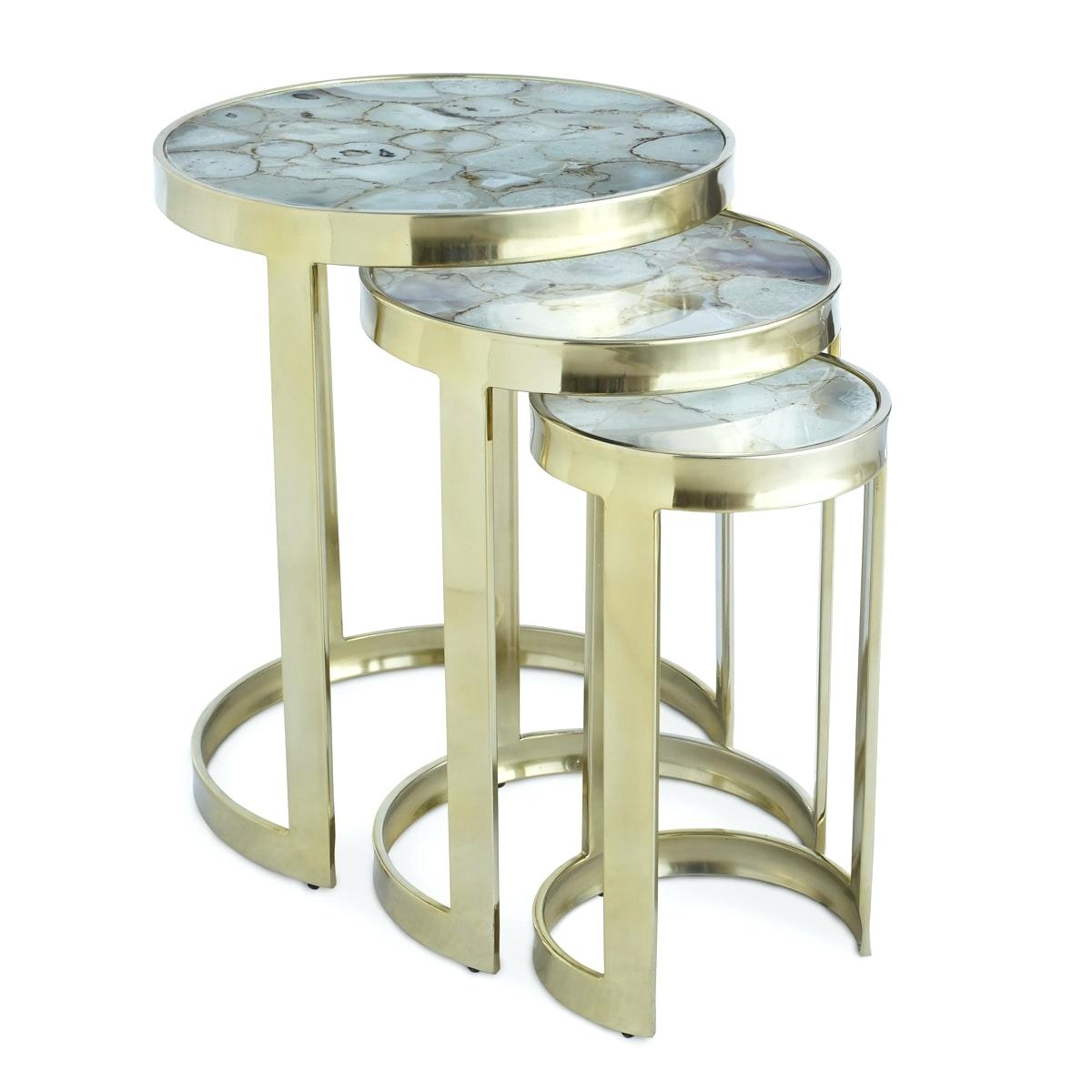 agate end table ecocentrism nesting tables set diy accent with built side blue living room furniture large tilting patio umbrella small adjustable legs brass glass solid wood