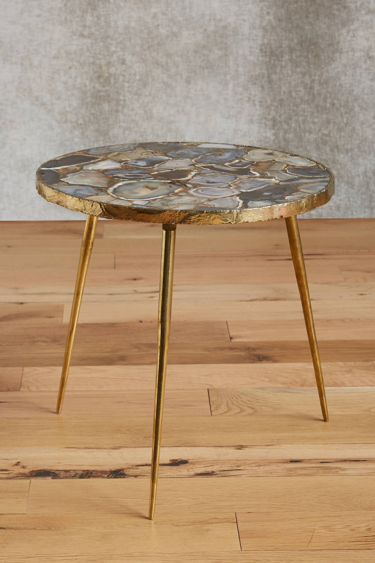 agate end table tables furniture accent the and more anthropologie today read customer reviews discover product details magnussen allure blue living room expandable uttermost dice