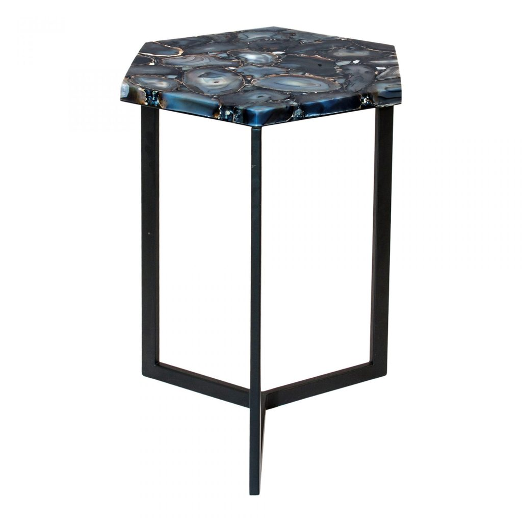 agate hexagon accent table plus modern design martin home office furniture small stand gold drum end blue tables living room plexiglass cube changing cover sun garden umbrella one