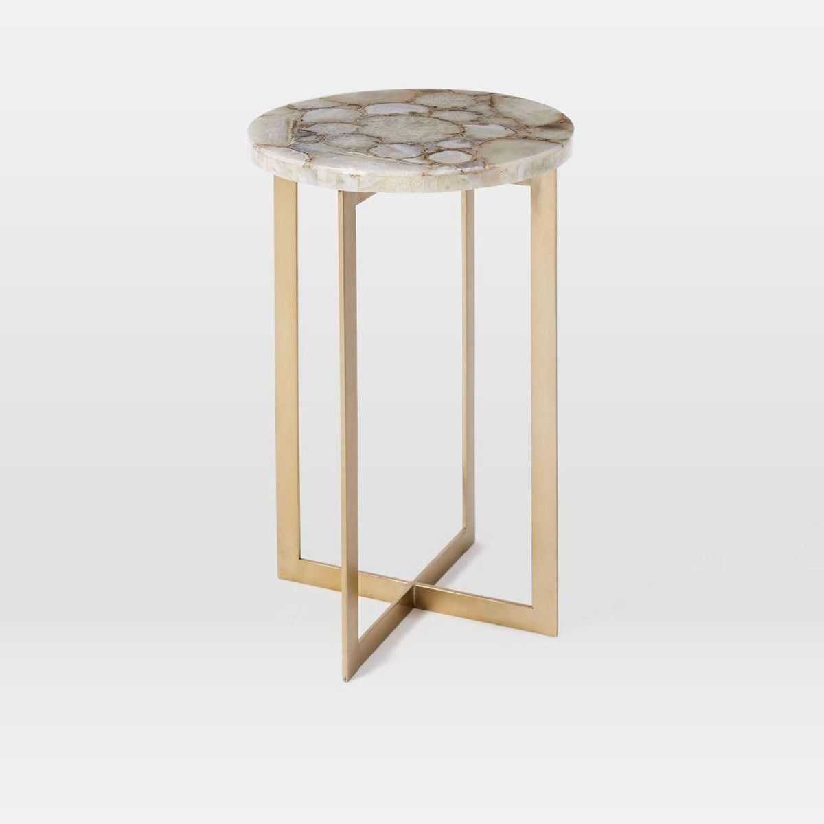 agate side table master bedroom living room accent west elm gold glass pottery barn end tables coffee with small nesting tall modern lamps williams sonoma floor lamp ikea white