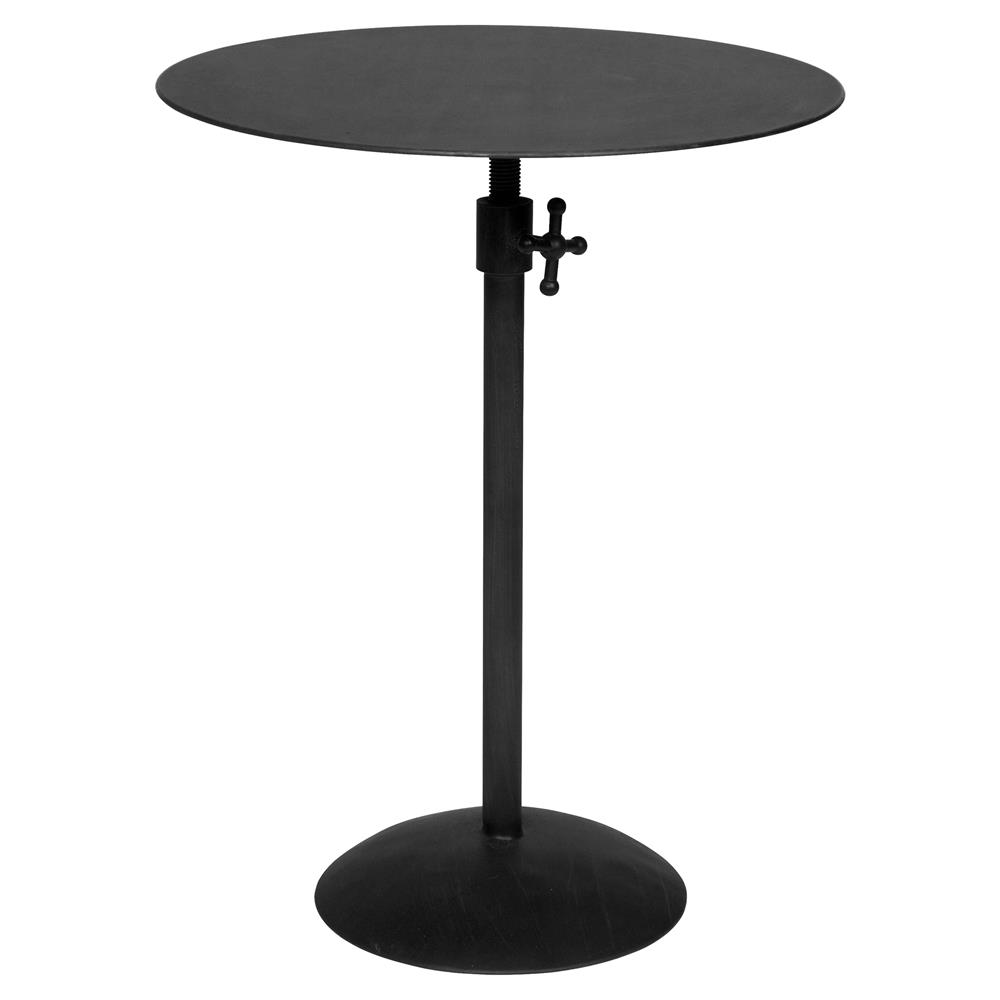 ahren industrial loft matte black metal round side table kathy kuo product drum accent home cupcake carrier target resin patio furniture victorian style end tables brass glass