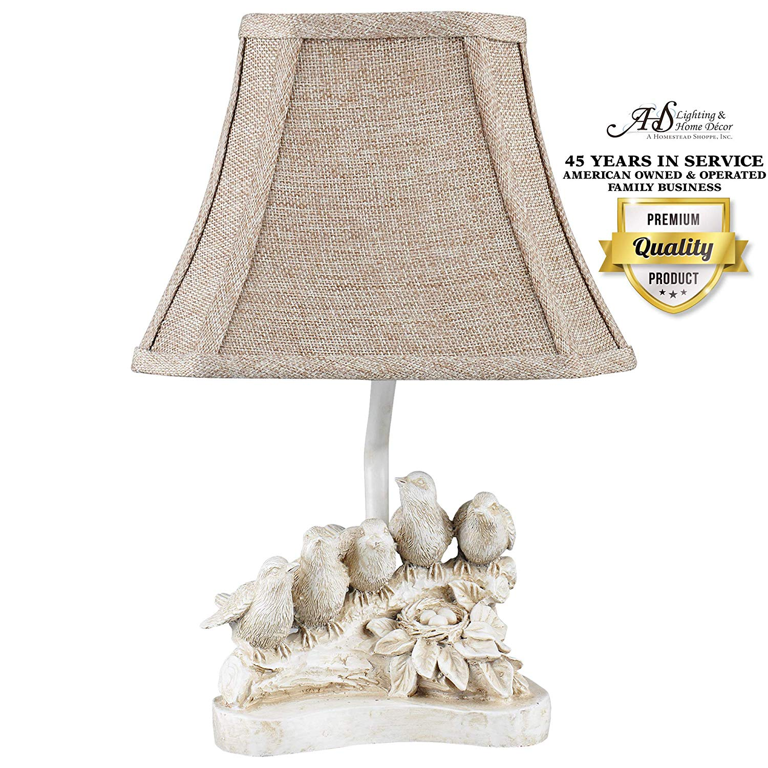 ahs lighting bird chorus decorative accent lamp natural table lamps beige polyresin perfect arm tables bookshelf side fireplace mantel cabin cottage small metal patio end resin