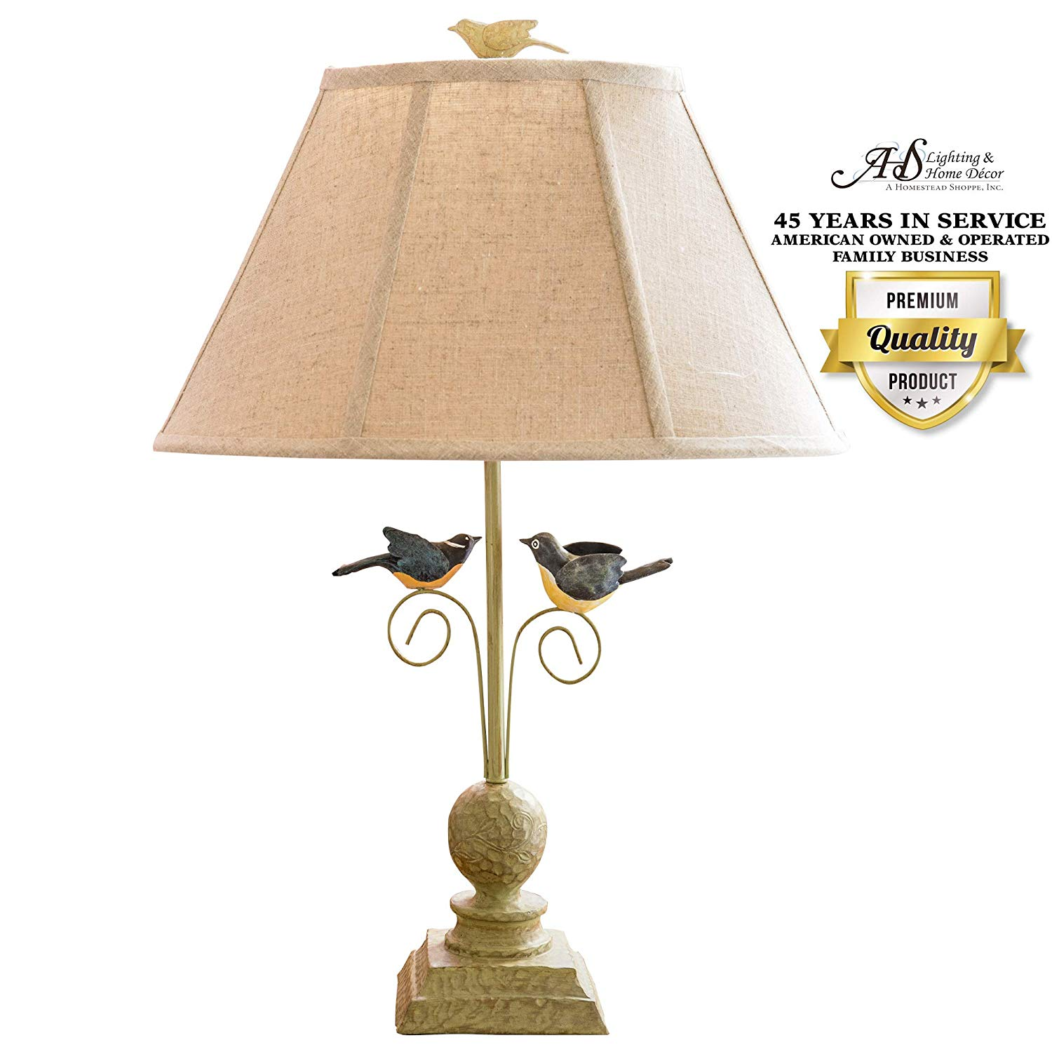 ahs lighting fly away together decorative accent lamp beige table lamps shade green polyresin for end side tables shelves living room small black patio pearl drum stool metal and