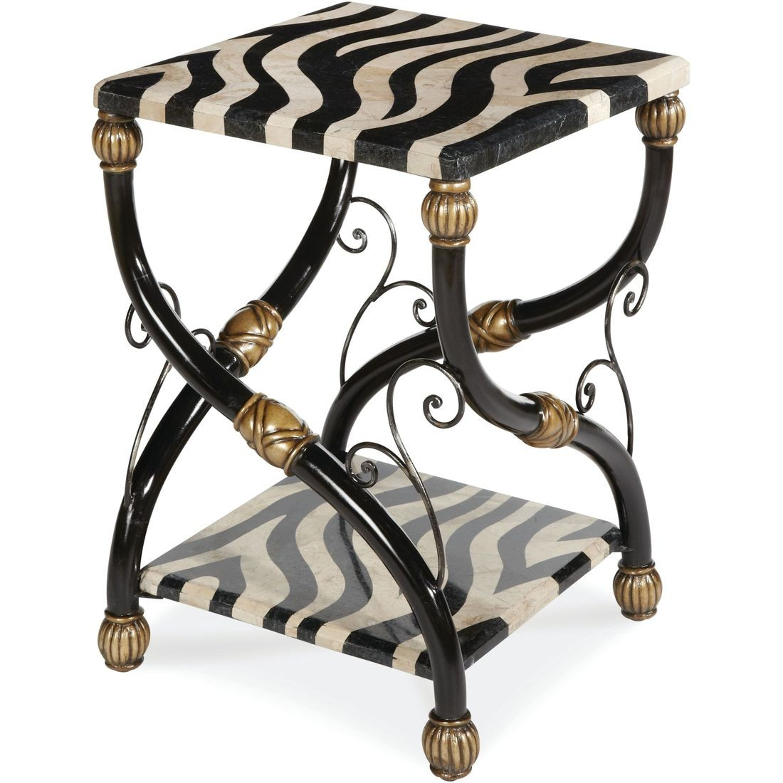 aico discoveries zebra accent table local furniture act caro sofa covers kmart woven patio clearance glass agate faux marble end west elm knock off waterproof phone pouch target