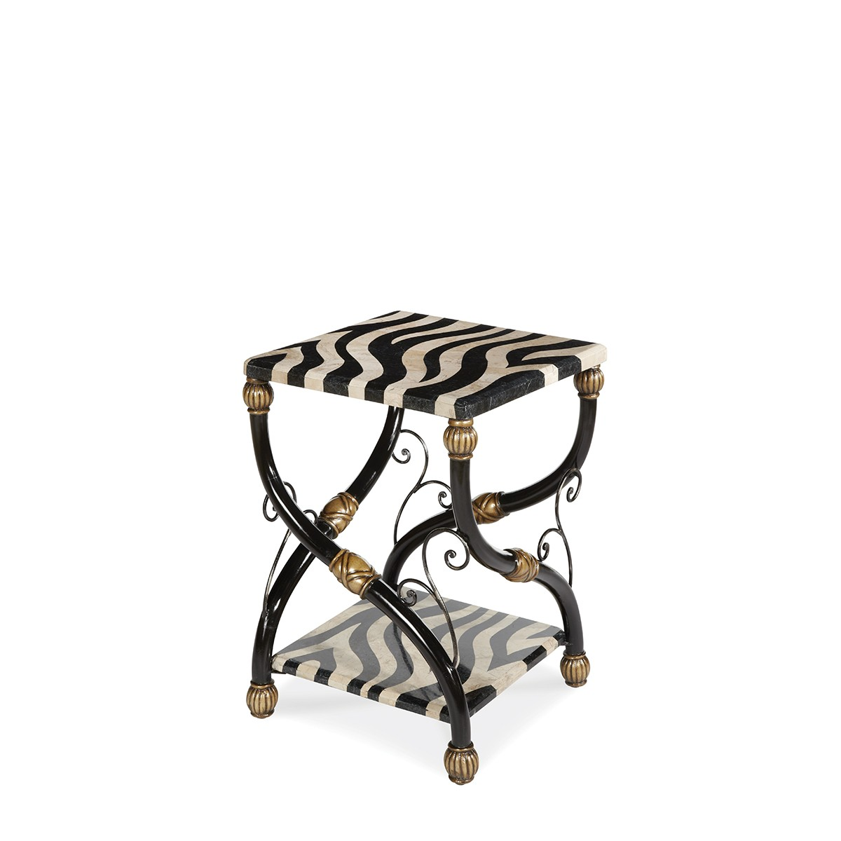 aico discovery zebra accent table act caro wood with metal legs antique legged long farmhouse dining small skinny chinese ceramic lamps vitra style chair trestle bench iron sofa