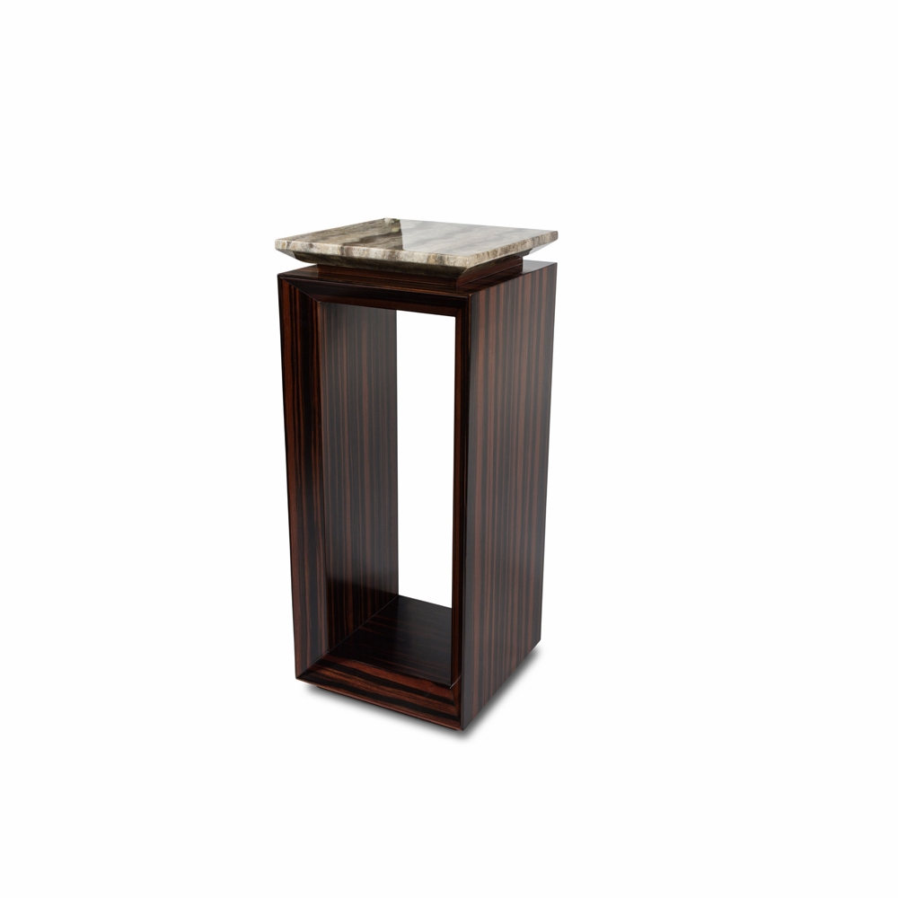 aico michael amini freestanding sergio tall accent table base with marble top pedestal hover zoom ethan allen fabrics dark brown coffee and end tables small centerpieces outside