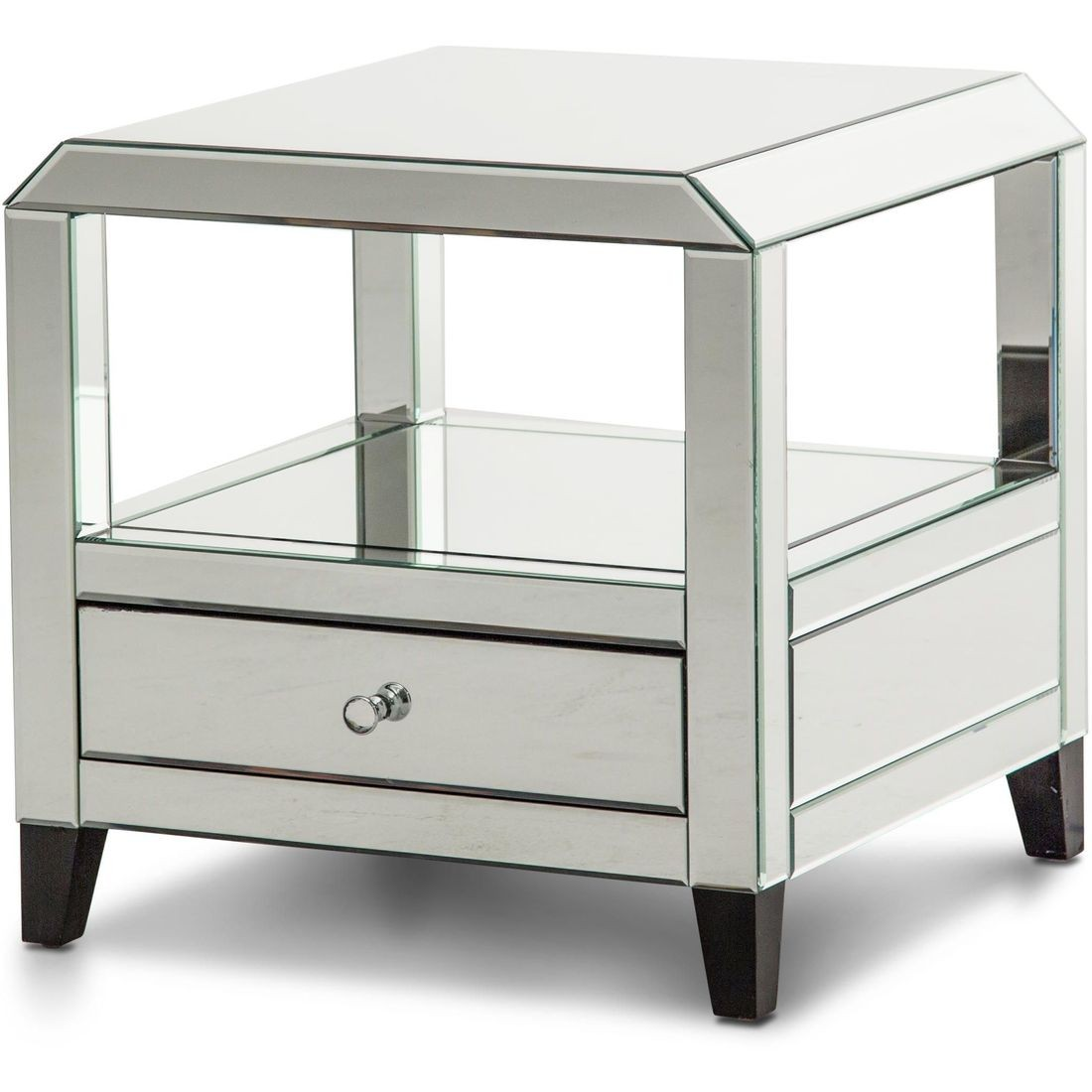 aico montreal mirrored square accent table with drawer local glass amish made furniture white dining set cordless reading floor lamps modern armoire ikea patio umbrella house