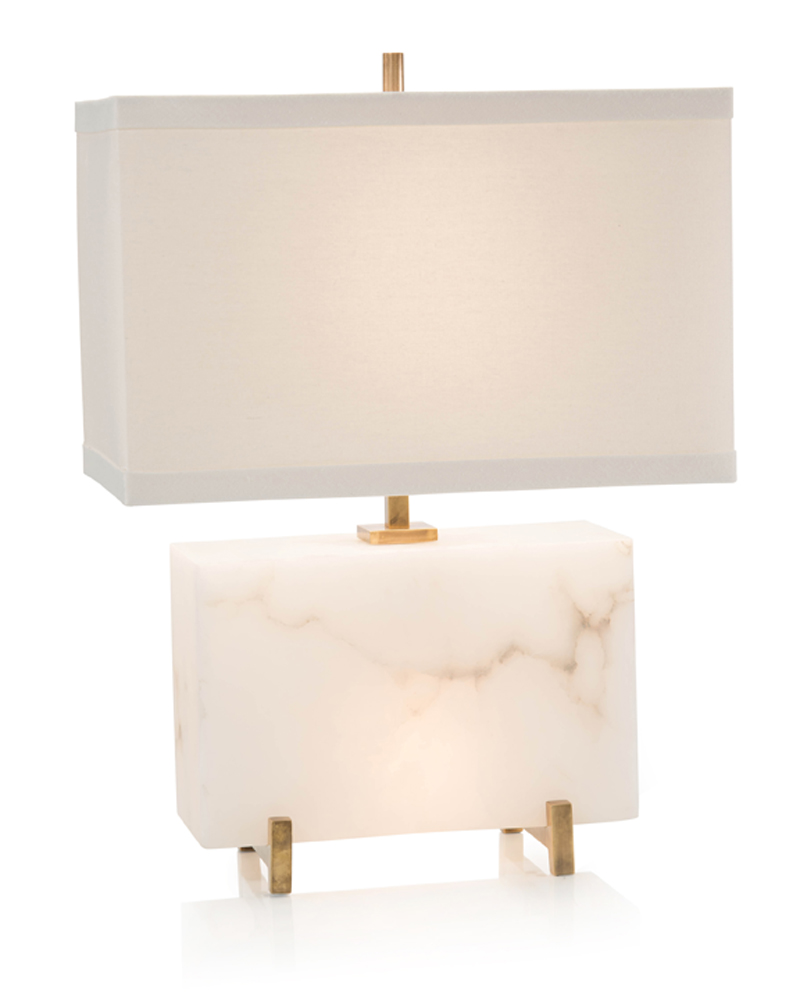alabaster horizontal block table lamp lamps portable jrl accent white and metal coffee console wells furniture drawer end red round side contemporary lighting old oak antique