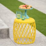 alamera outdoor inch lattice side table christopher knight home yellow free shipping today grey washed end tables wrought iron with glass tops turquoise entry portable maroc 150x150