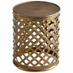 alden side table bronze granby cylinder drum accent threshold mirrored dining rose gold home decor fretwork coffee entrance furniture outdoor metal living room couches ashley 150x150