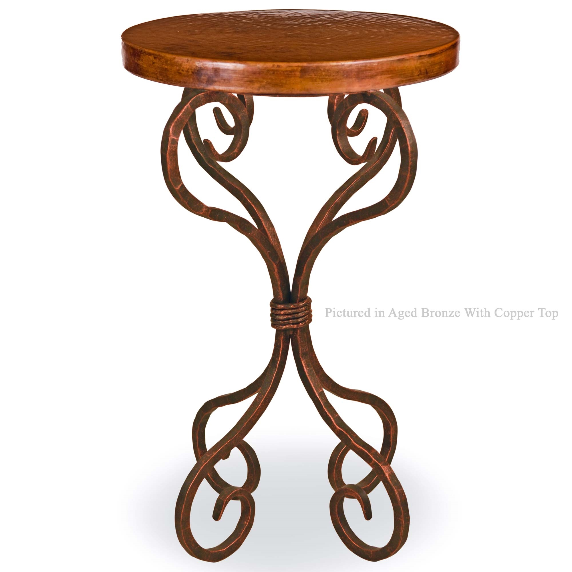 alexander accent table with round copper top mathews twi wrought iron patio larger garden bistro aspen home furniture outside side tables white company outdoor concrete glass end