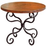 alexander wrought iron end table with round top timeless twi patio accent larger oval marble oak and glass nest tables ethan allen counter stools outdoor cooking metal dining 150x150