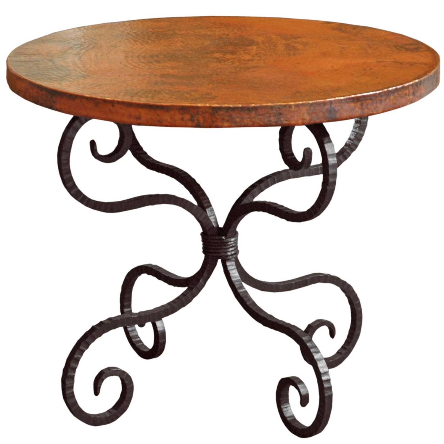 alexander wrought iron end table with round top timeless twi patio accent larger oval marble oak and glass nest tables ethan allen counter stools outdoor cooking metal dining