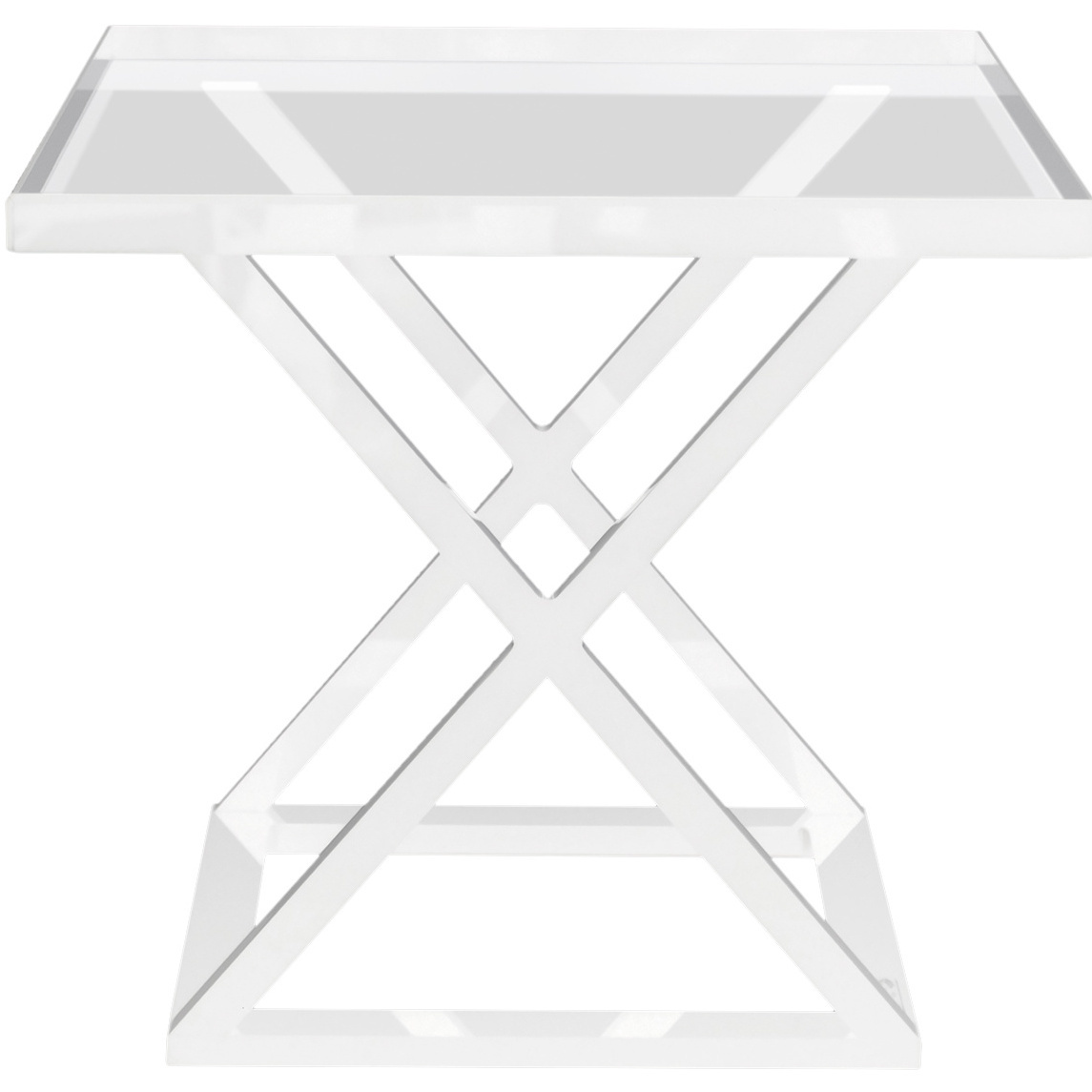 alexandra von furstenberg acrylic accent table original metal furniture legs modern wood and nesting tables steel black end outdoor umbrella stand all glass side solid semi circle