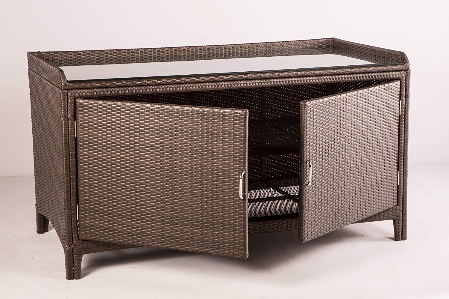 alfresco home all weather wicker outdoor sideboard ewel table console storage patio tables garden acrylic top coffee accent lamps for living room vintage mid century modern dining