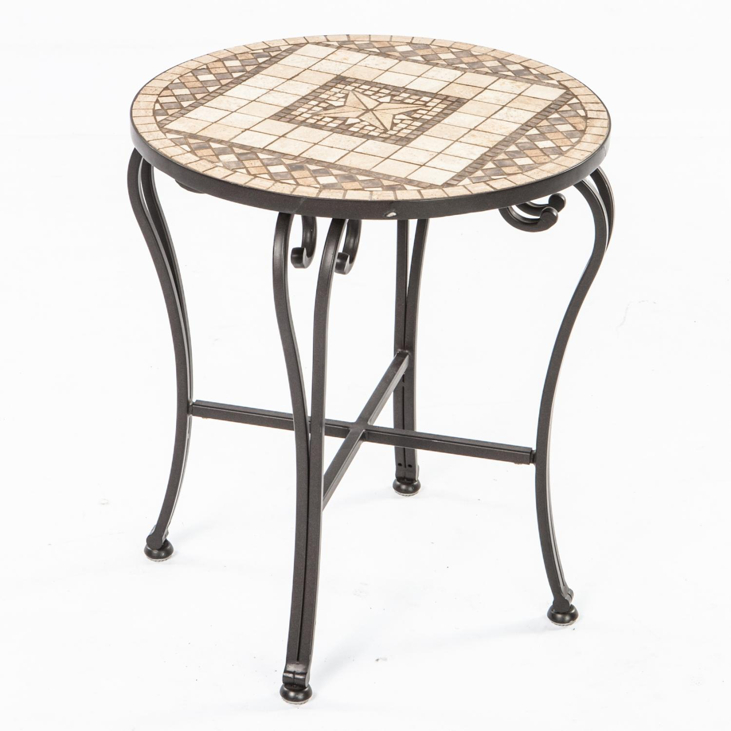 alfresco home basilica mosaic side table bbq guys outdoor for purple furniture live edge end white dining room and chairs weathered usb port wood lamp triangle sofa barn door