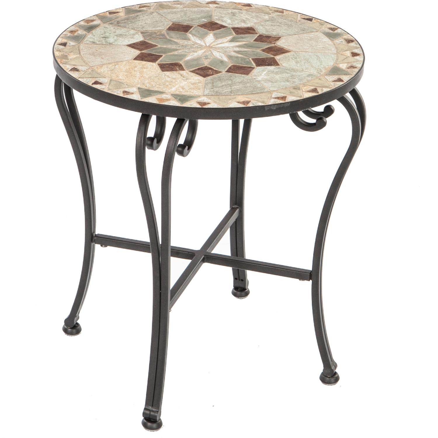 alfresco home tremiti mosaic side table patio accent triangle notre dame ultimate kohls set three glass coffee tables outdoor plant stand trestle dining room small pub sets garden