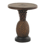 alfresco living pineapple table lexington home brands silo end stackable plastic side tables skinny white nightstand glass centerpiece ideas ethan allen dinette sets chesterfield 150x150