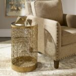 algernon transitional antiqued gold round accent table uttermost very slim console pub height kitchen broyhill side with usb modern mirrored coffee ikea desk living room ideas 150x150