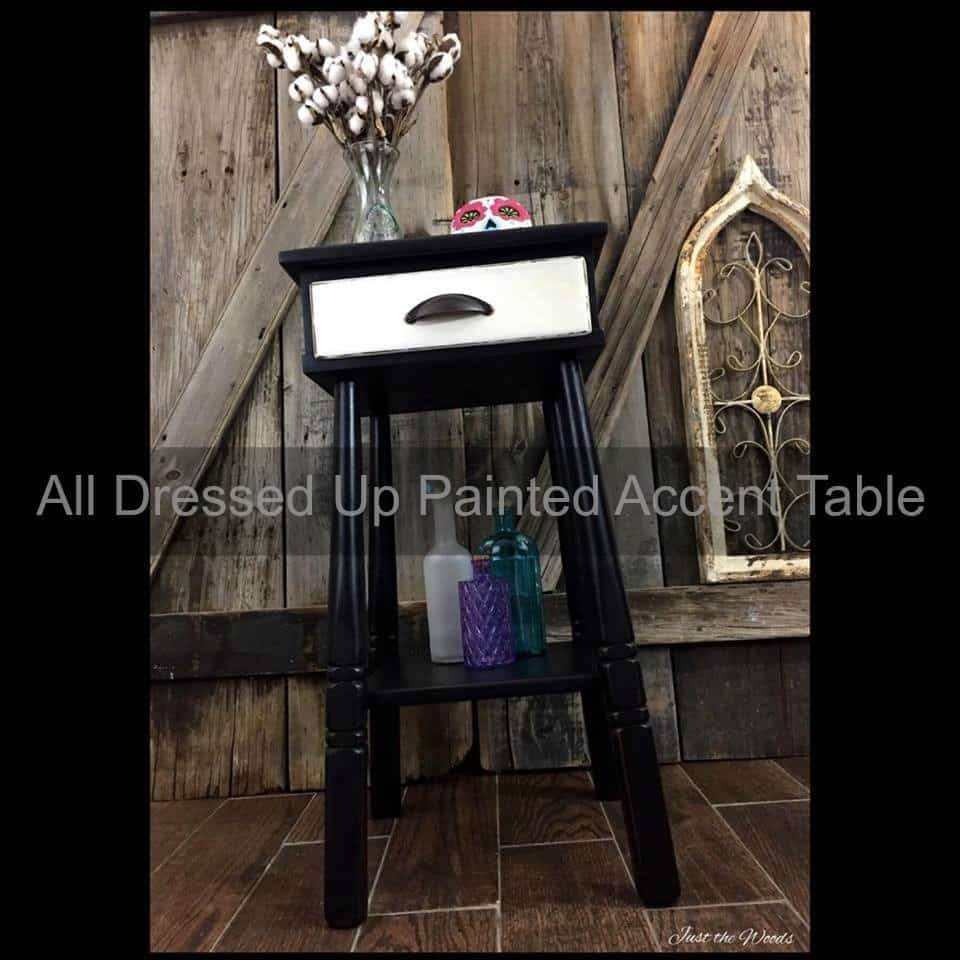 all dressed black and white furniture for your home painted accent table metal round topper patterns plastic covers buffet ikea goods tables wooden bedside lamps narrow end living