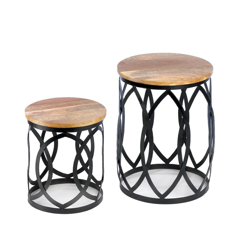 all good decor contemporary accent tables wood metal table silver drum side distressed white sofa console with shoe storage clear acrylic trunk coffee hay best for furniture