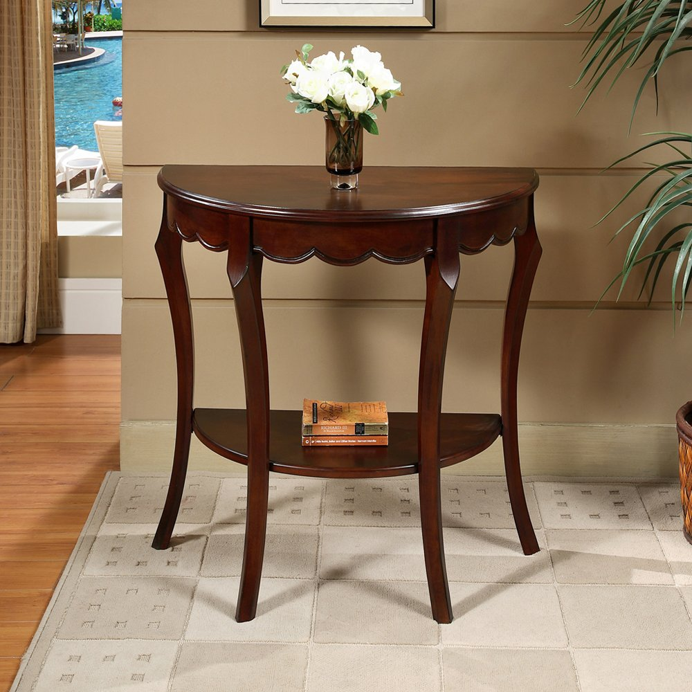 all things cedar half moon console table lowe accent view larger ott brushed nickel lamps chairs with mirimyn round trestle dining room thin hallway bathroom styles home goods