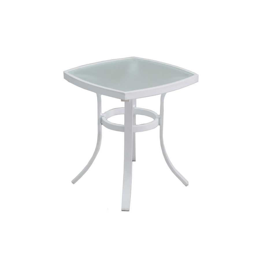 allen roth ocean park square metal end white patio table industrial casters side accessories between two couches dog plans unfinished accent wood craft ideas american martinsville