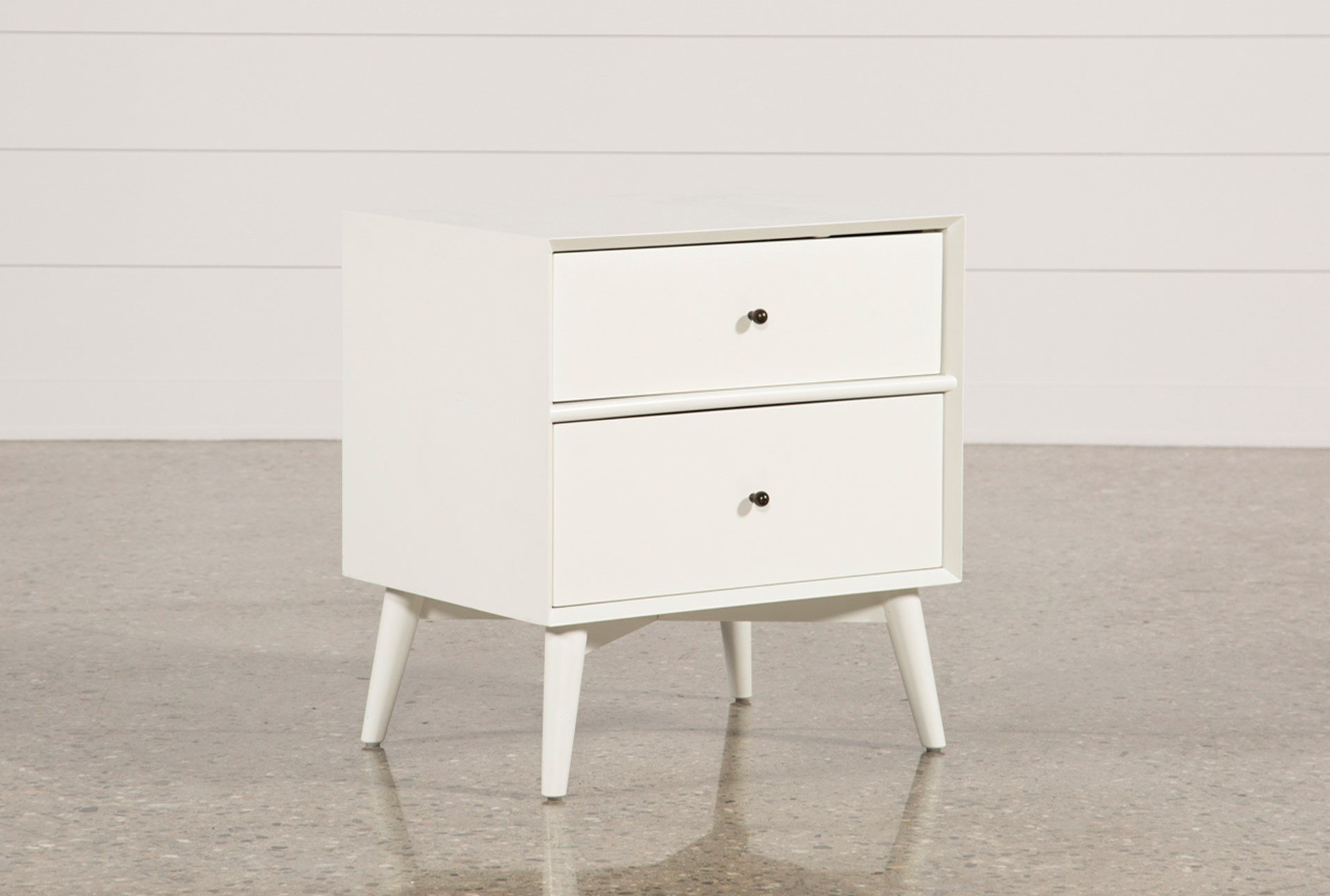 alton white nightstand living spaces extra large nightstands qty has been successfully your cart floating shelf over drawer chest drawers lacquer furniture metal hayworth mirrored