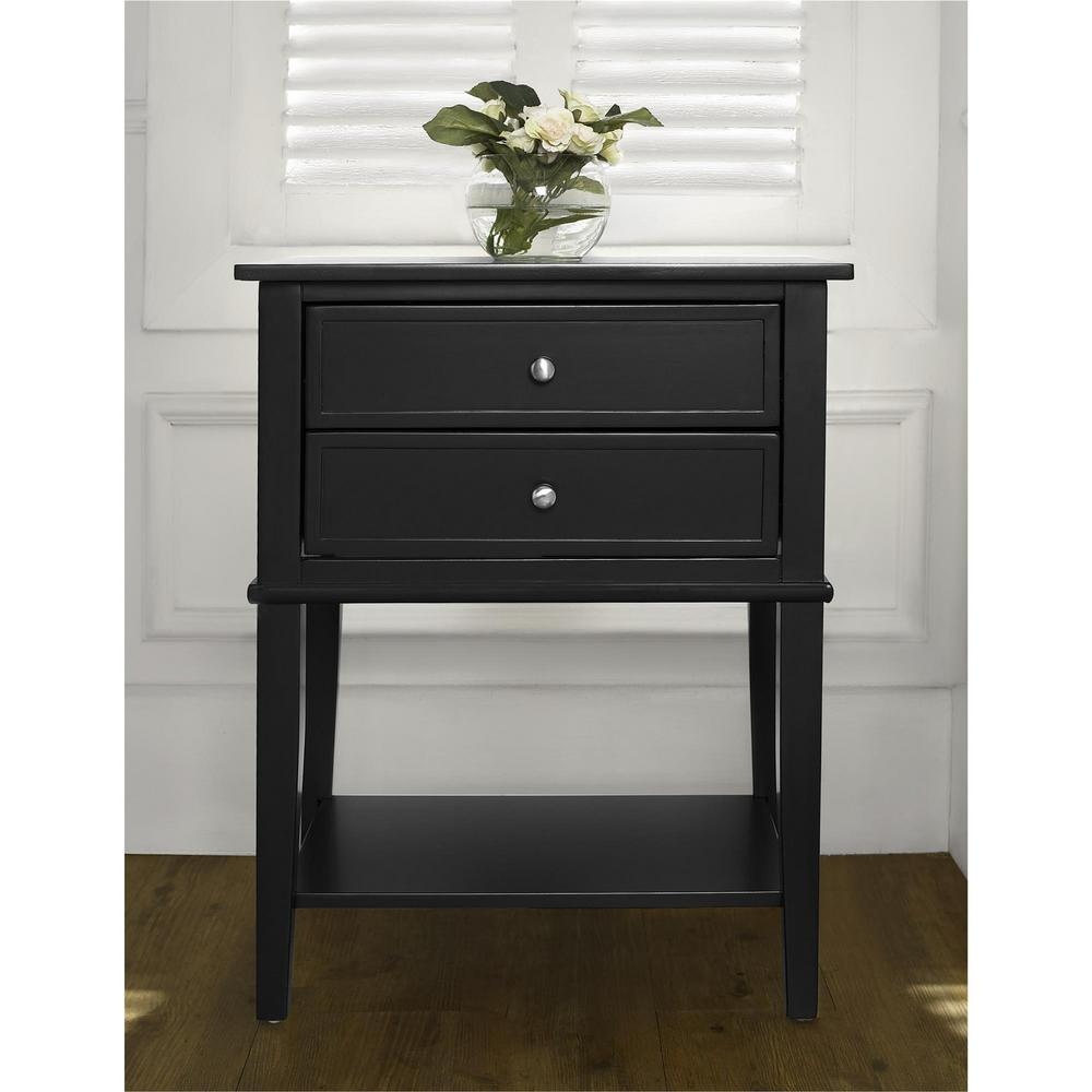 altra franklin accent table with drawers black end tables winsome daniel drawer finish monarch hall console whole tablecloths for weddings two nesting outdoor cover white patio