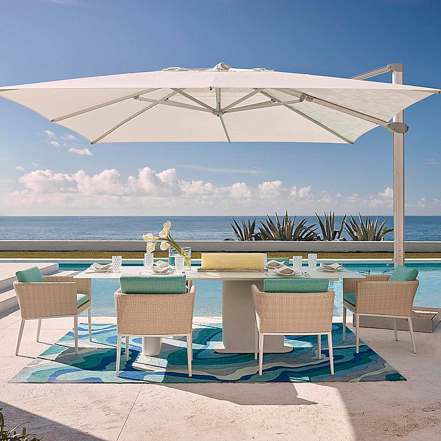 altura cantilever umbrella frontgate spring haven accent table stainless steel tall hairpin legs gold occasional tables brass and glass nest garden supplies chairs next ceiling