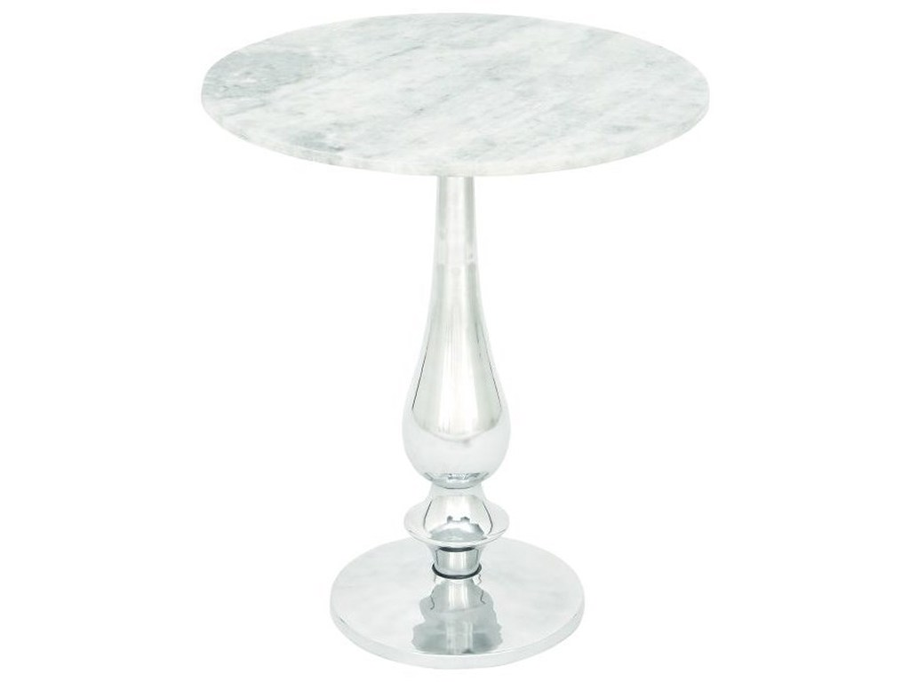 aluminum marble accent table furniture uma enterprises products inc color white furniturealuminum carpet threshold transition strip small bedside with drawers tablecloth for round