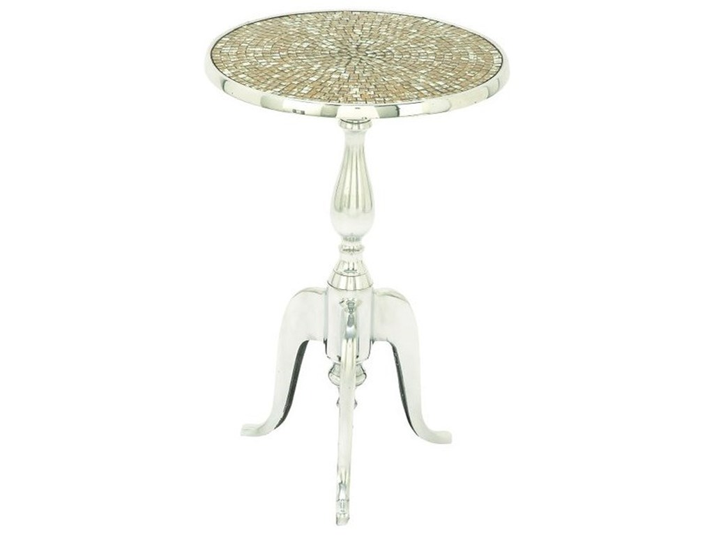 aluminum mosaic round accent table furniture uma products enterprises inc color threshold furniturealuminum red home decor accents apothecary chest glass tops for wood windham