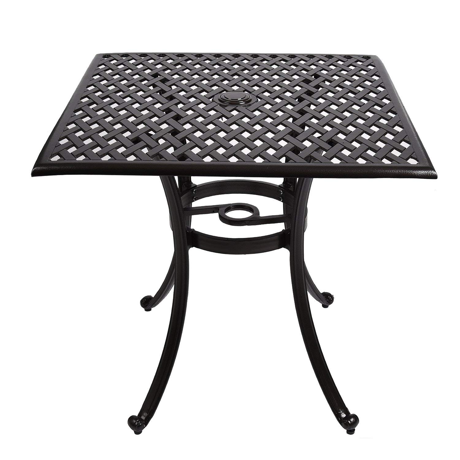 aluminum patio side table find outdoor youlite cast bistro dining square furniture sets for maple coffee iron frame queen grey linen tablecloth narrow chess light pink end small