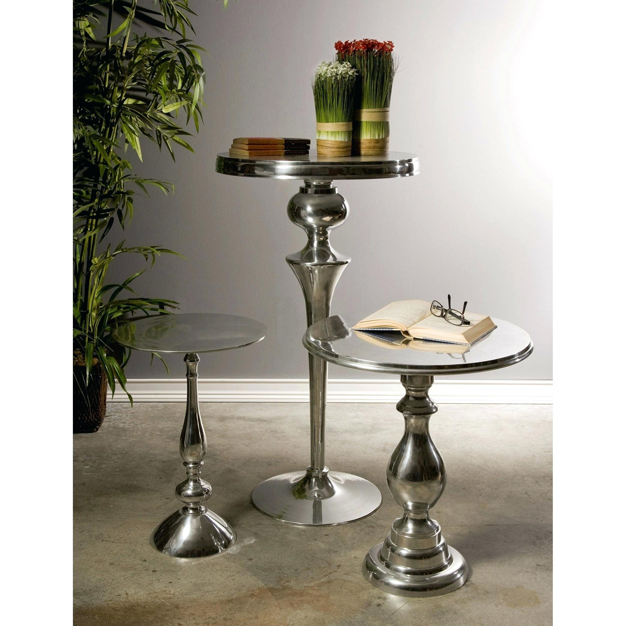 aluminum side table west elm hexagon worldwide home accent tables and cabinets cast patio antique oval chairs ikea tall end cabinet fine furniture edmonton pier one curtains