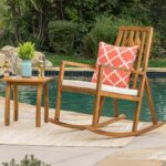 amarante outdoor rocking chair with wood accent table noble house furniture mid century modern couch mosaic garden side address plaques wicker patio and chairs home goods dining 150x150