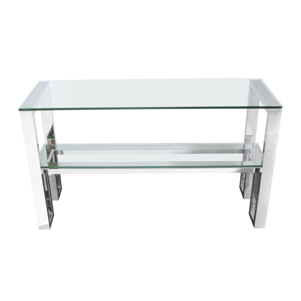 amazing diamond sofa carlsbadcs carlsbad console table with tables clear glass top shelf stainless steel frame chrome metal accent kmart grey nest outdoor patio umbrella narrow