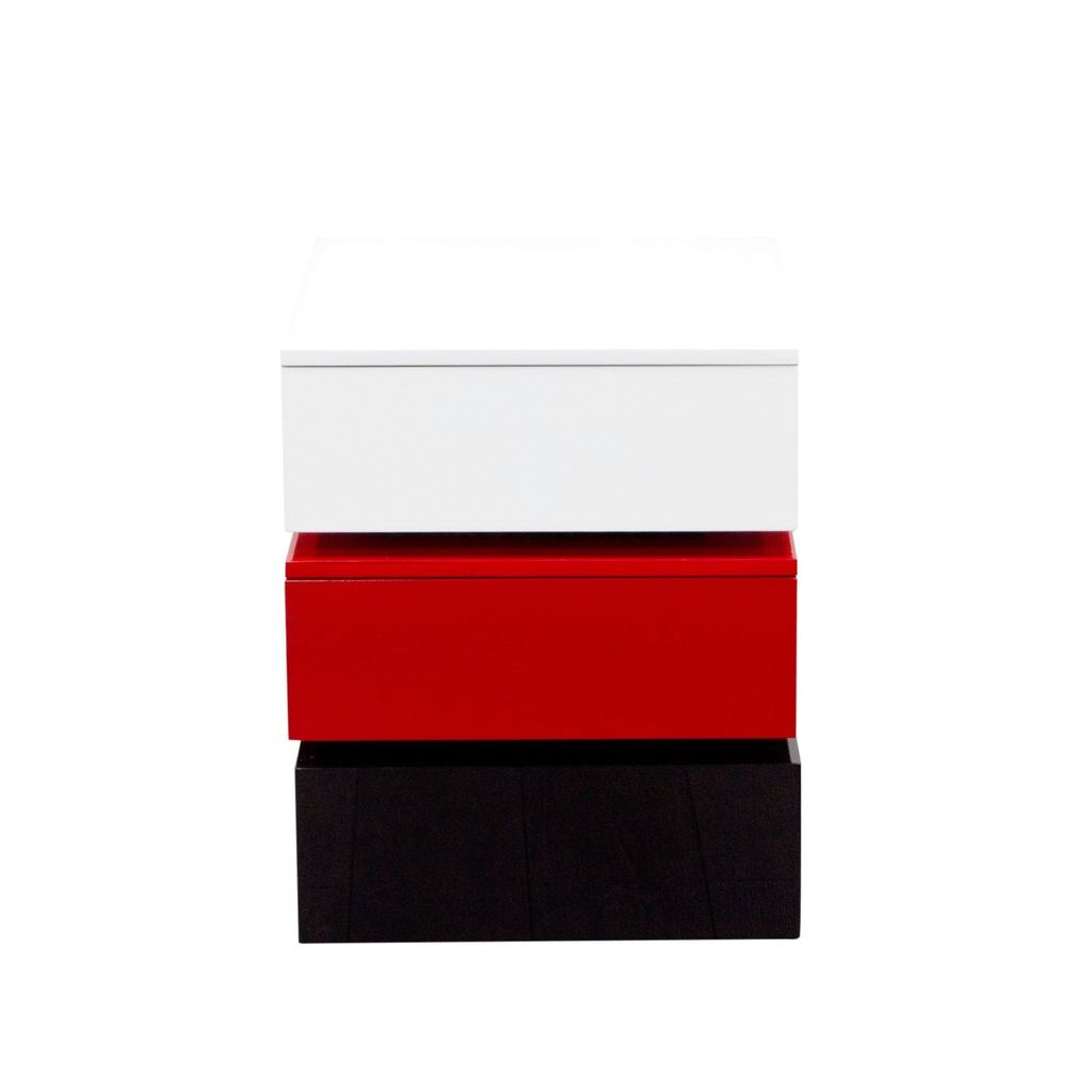 amazing diamond sofa sparknsre tri color accent table side tables drawer storage blackwhitered black with white round tablecloth for bedside tree stump end door console cabinet