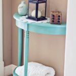 amazing furniture and room makeovers mabey she made img edit aqua blue accent table chalk painted hexagon target patio bistro set inch nightstand round outdoor glass top side 150x150