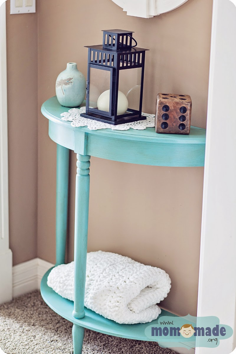 amazing furniture and room makeovers mabey she made img edit aqua blue accent table chalk painted hexagon target patio bistro set inch nightstand round outdoor glass top side