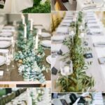 amazing greenery wedding details for your big day accent focus table runner fresh runners inspiration reception custom trestle target curtain rods corner console patio seating 150x150
