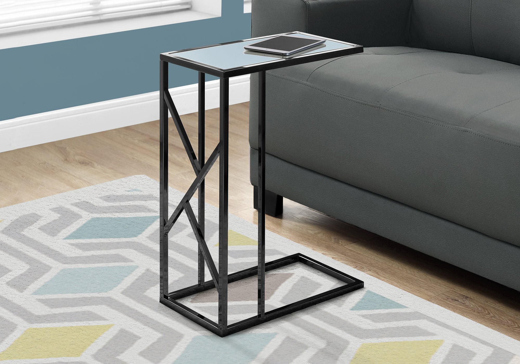 amazing monarch specialties accent table black metal mirror nickel top argos coffee pub style kitchen console cabinets safavieh treasures target dining room high and chairs