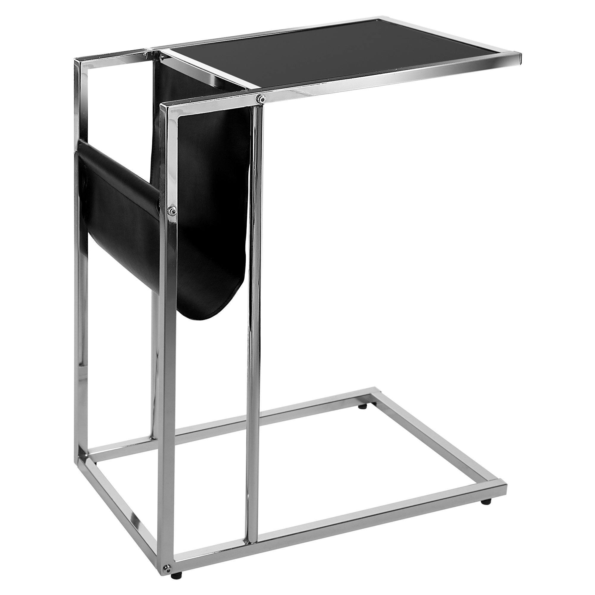 amazing monarch specialties accent table black with magazine holder chrome metal rack target bedside lamps garden and chairs clearance battery operated desk light wisteria
