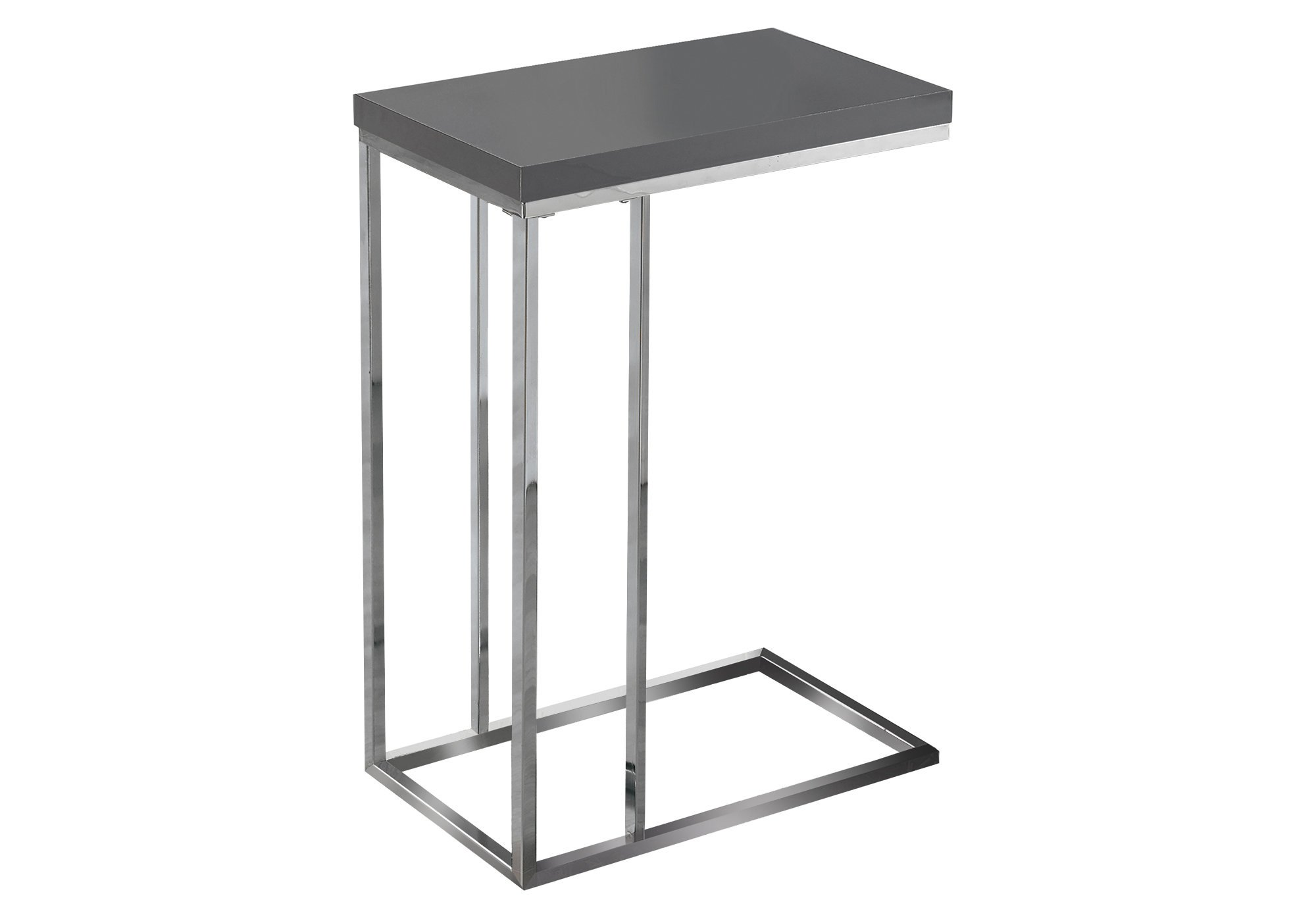 amazing monarch specialties accent table glossy grey with chrome metal drum stool base dining chair covers target counter height bench barnwood small smoked glass coffee wooden
