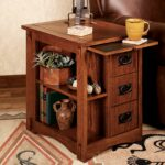 amazing oak accent table with alluring small corner decor end tables mission south groups narrow drawer skinny white metal and glass nightstand screw furniture legs half moon room 150x150