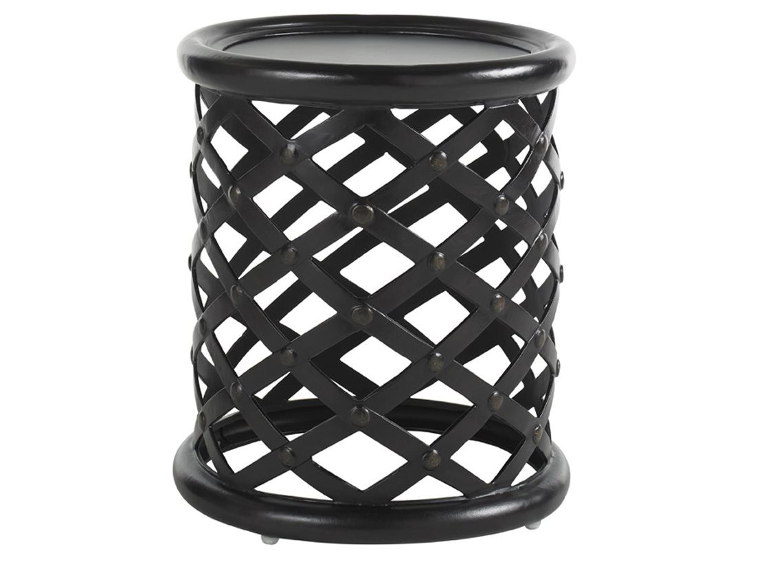 amazing outdoor accent table with side tables patio popular tommy bahama kingstown sedona cast aluminum round metal black and silver bedside lamps tall skinny nightstand runner