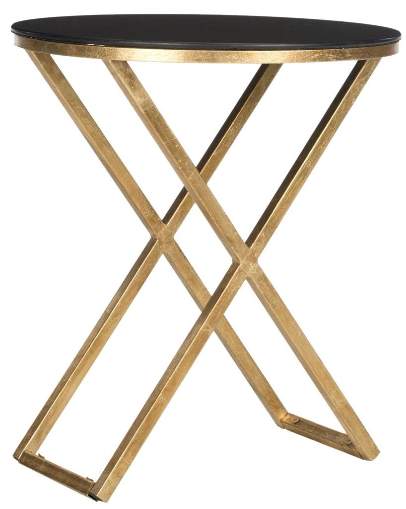 amazing safavieh riona accent table gold black side tables goldblack glass top holland furniture mainstays coffee chrome end ikea target wood nightstand rose metal carpet